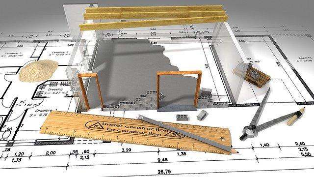 Maquette de maison et plan