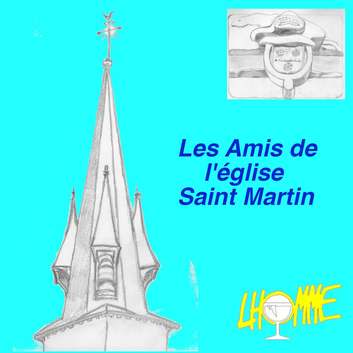 Logo de l'association Les Amis de l'Eglise Saint Martin